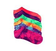 Mix No. 6 Tie Dye Womens No Show Socks - 6 Pack