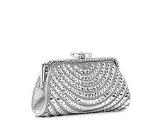 Lulu Townsend Metallic Jewel Clutch