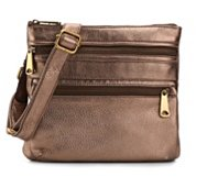Fossil Explorer Leather Crossbody Bag