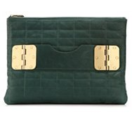 Hayden Harnett Bowdoin Leather Clutch