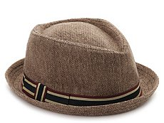 David & Young Stripe Band Fedora