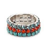 One Wink 3 Strand Stretch Bracelet Set