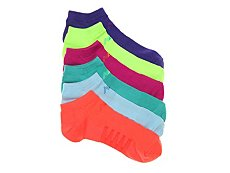 New Balance Solid Bright Womens No Show Socks - 6 Pack