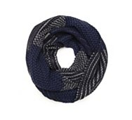Aston Grey Block Stripe Infinity Scarf