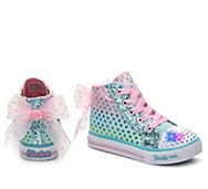 Skechers Twinkle Toes Pixie Bunch Girls Toddler Light-Up High-Top Sneaker