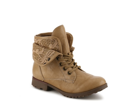 Girls Brown Combat Boots - Cr Boot