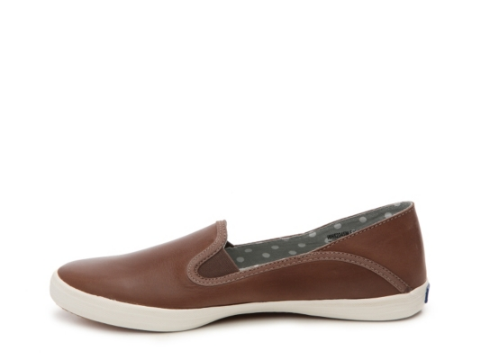 keds leather slip ons cognac