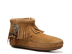 Minnetonka Concho Feather Western Bootie