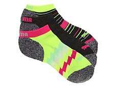 Puma Hype Womens No Show Socks - 3 Pack