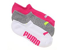Puma Invisible Womens No Show Socks - 3 Pack