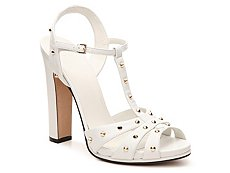 Final Sale - Gucci Leather Studded T-Strap Sandal