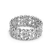 One Wink Flat Crystal Stretch Bracelet