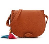 Crown Vintage Embossed Shoulder Bag