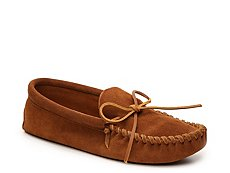 Minnetonka Leather Laced Softsole Slipper