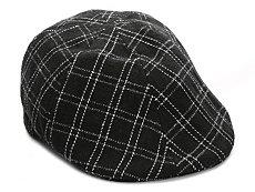 Aston Grey Plaid Newsboy Cap