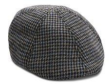 Aston Grey Houndstooth Newsboy Cap