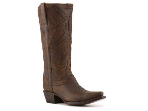 lucchese distressed mosaic cowboy boot dsw