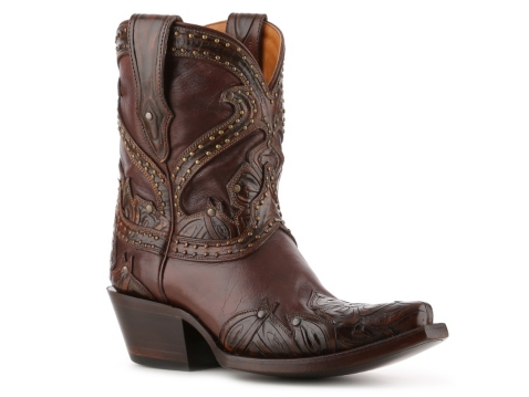 lucchese tooled petal cowboy boot dsw