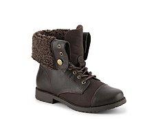 Rachel Aspen Girls Youth Combat Boot