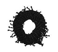 Steve Madden Metallic Fishnet Fringe Infinity Scarf