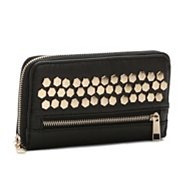 Crown Vintage Studded Wallet