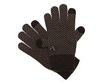 Perry Ellis Herringbone Knit Gloves