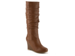 journee collection hana wide calf wedge boot dsw