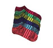 adidas Marled Stripe Superlite Womens No Show Socks - 6 Pack