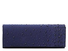 Lulu Townsend Jewel Satin Clutch