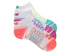 New Balance Bright Performance Womens No Show Socks - 3 Pack