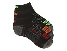 New Balance Zag Performance Mens Low Ankle Socks- 3 Pack