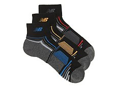 New Balance Performance Mens Ankle Socks - 3 Pack
