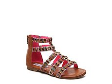 Steve Madden Cameoo Gem Girls Youth Gladiator Sandal