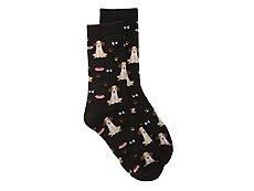 K. Bell Dog Womens Crew Socks