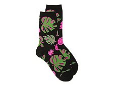 Hot Sox Palms Womens Crew Socks