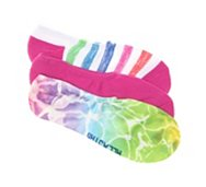 Converse All Star Pool Print Womens No Show Socks - 3 Pack