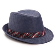 David & Young Plaid Band Fedora Hat