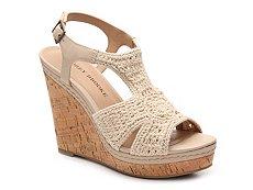 Audrey Brooke Winston Macrame Wedge Sandal