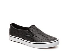 Vans Asher Low Floral Perforated Slip-On Sneaker - Womens