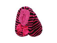 MeMoi Zebra Bow Kids Slipper Socks