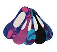Steve Madden Tie Dye Womens No Show Liners - 5 Pack