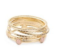 One Wink Stone Bangle Set