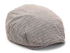 Aston Grey Striped Newsboy Cap