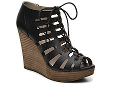 Restricted Melon Wedge Sandal