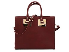Madison West Gold Plate Satchel
