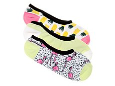Vans Tropical Flamingo Womens No Show Liners - 3 Pack