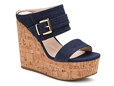 GC Shoes Fiesta Denim Wedge Sandal