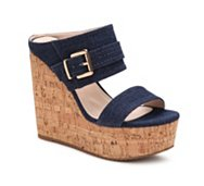 GC Shoes Fiesta Denim Wedge Sandal