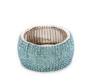 One Wink Blue Rhinestone Stretch Bracelet