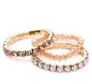 One Wink Jeweled Stretch Bracelet Set